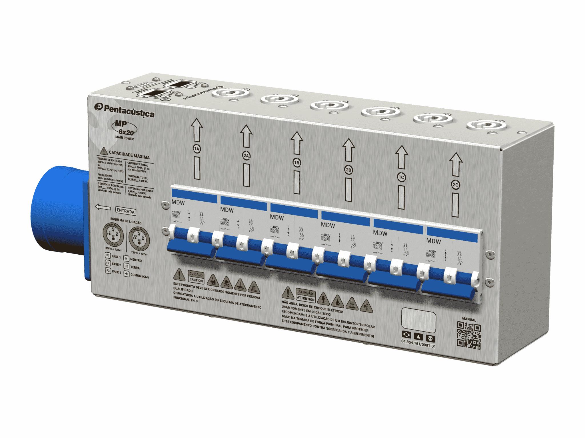 Mini main power MP-6×20 PC