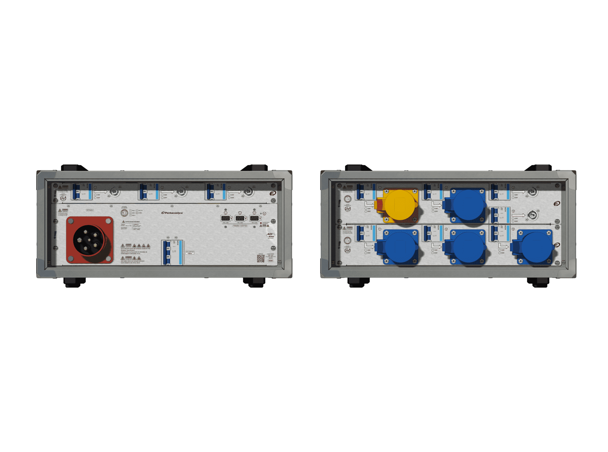 Main power RMP-63se, 5 polos, 3F+N (220VD/127VY), V110