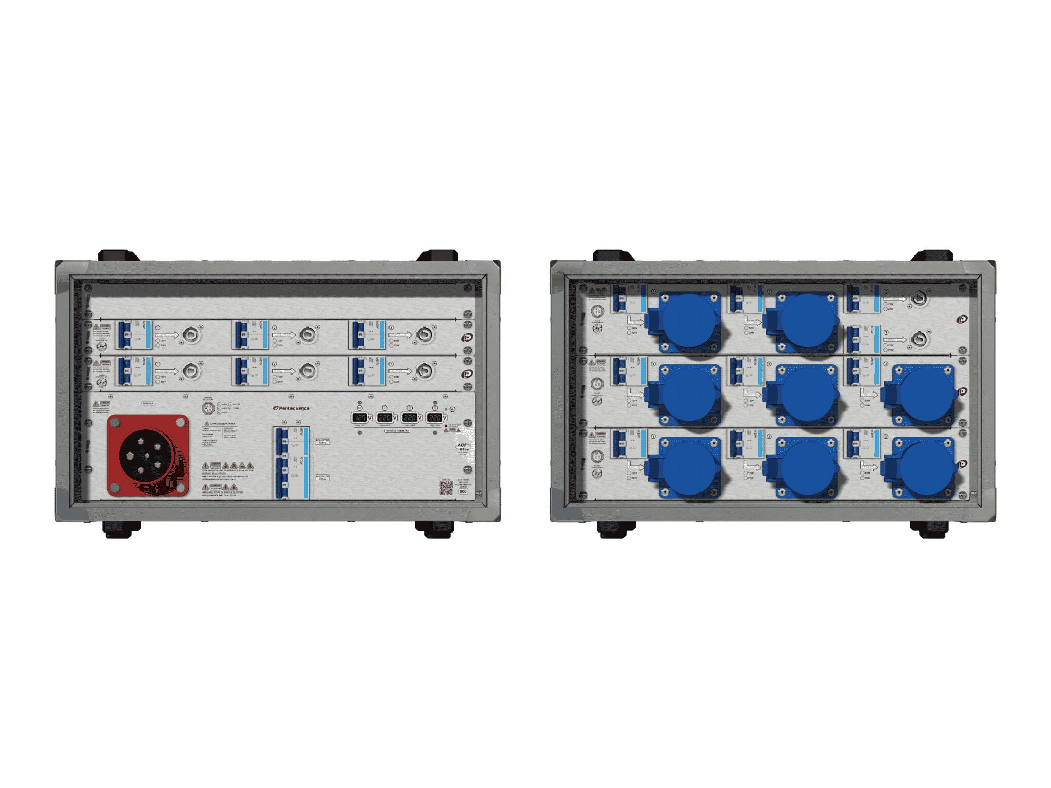 Main power RMP-63se, 5 polos, 3F+N (380VD/220VY), V073