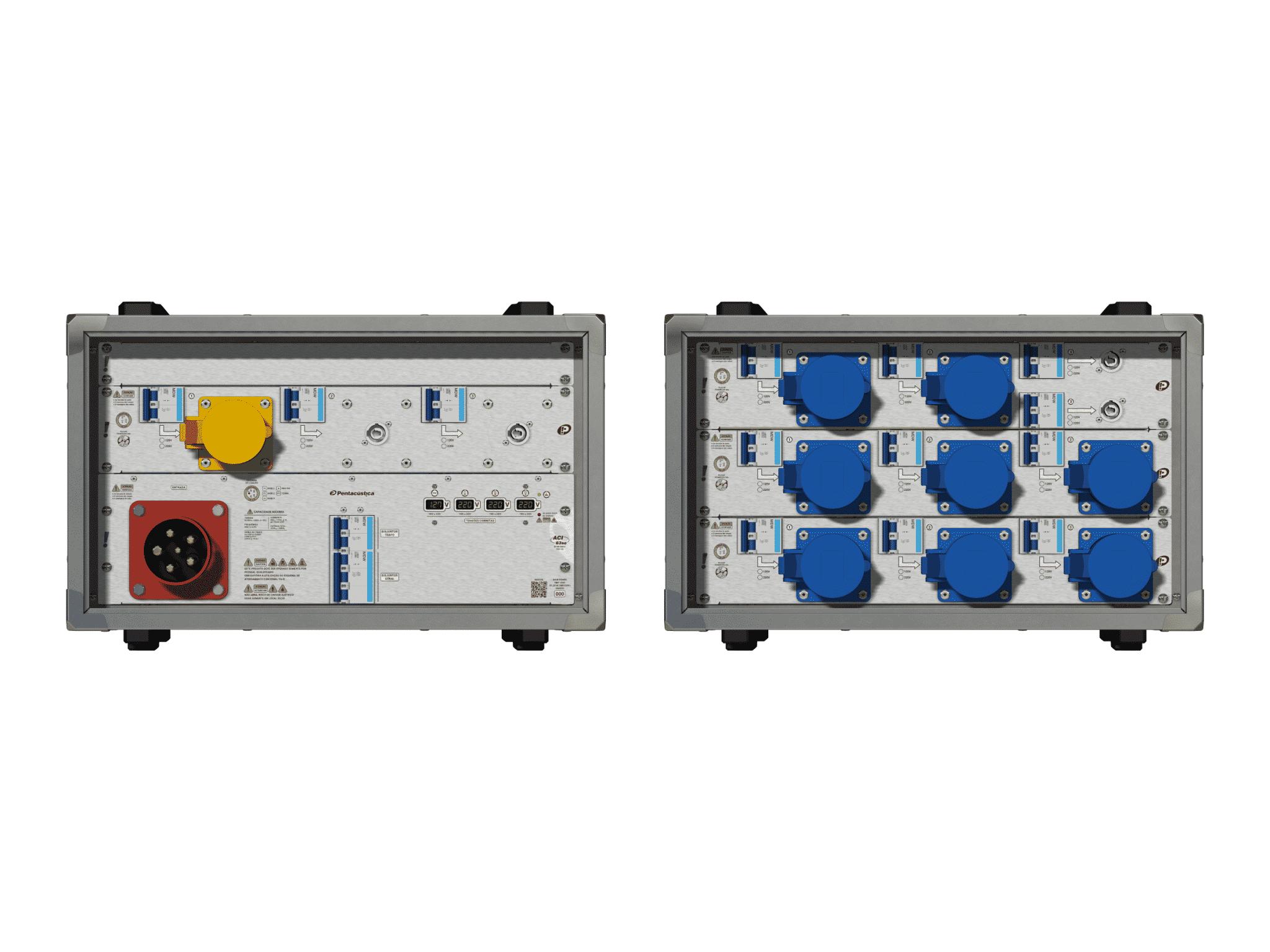 Main power RMP-63se, 5 polos, 3F+N (380VD/220VY), V075
