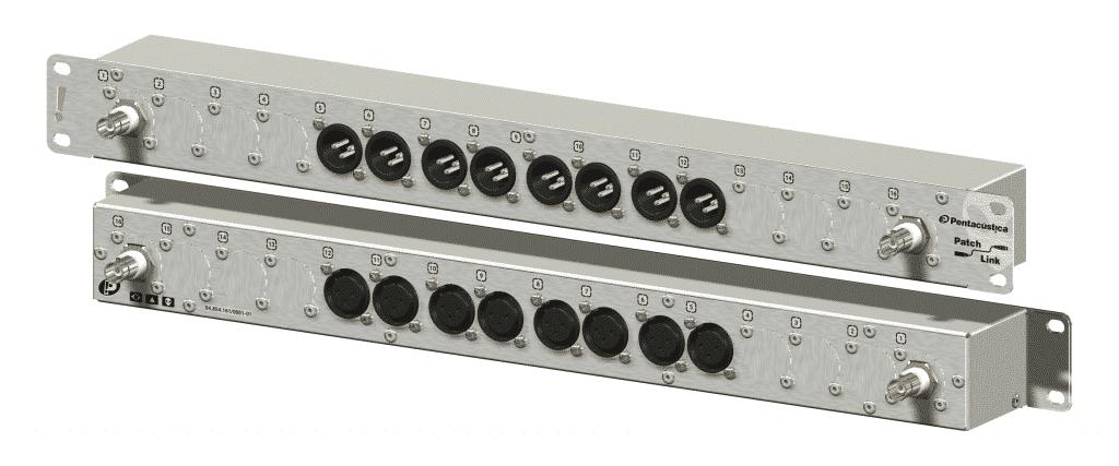 Patch para 8 microfones wireless e saídas para antenas