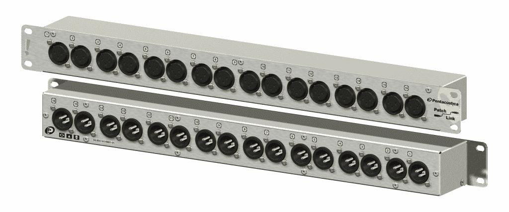 Patch com 16 XLR-3F frontais para 16 XLR-3M