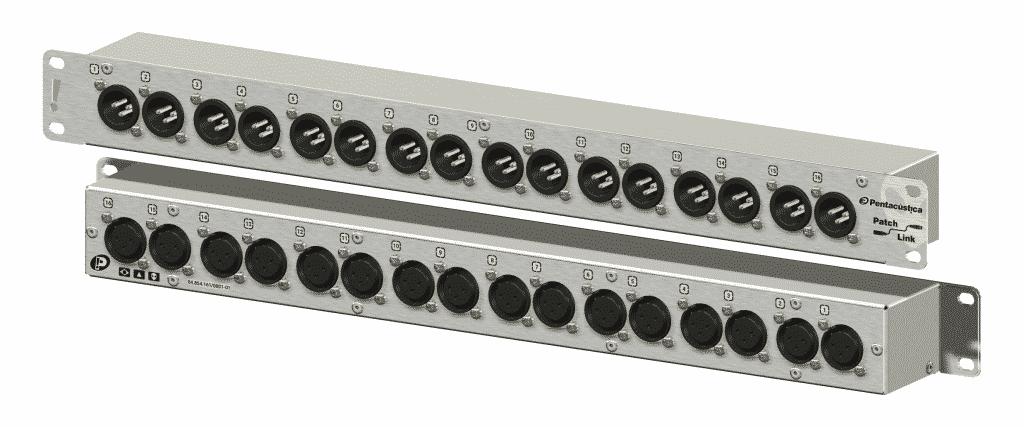 Patch com 16 XLR-3M frontais para 16 XLR-3F