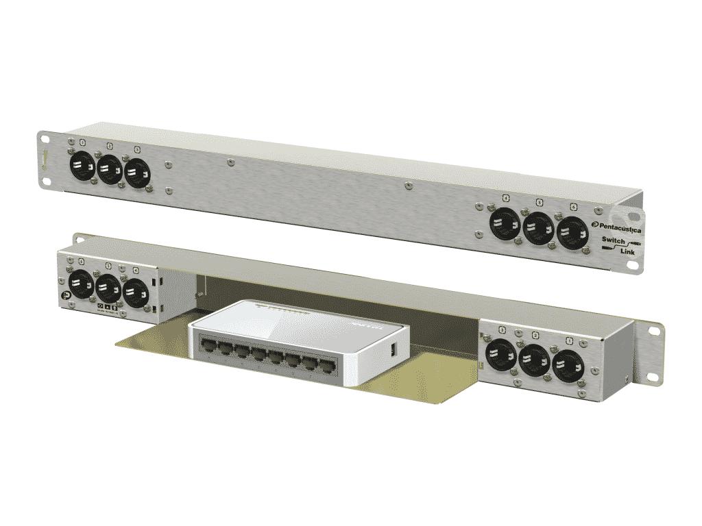 6 I/Os externos e 2 internos. Usado como switch centralizador.